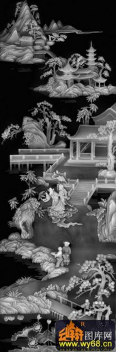 八仙006-仙人-02-浮雕灰度图