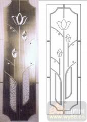 喷砂玻璃-浮雕贴片-花卉-00052