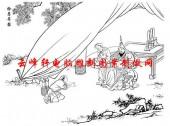 二十四孝-矢量图-14拾葚异器-国画二十四孝图案