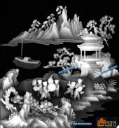 百子图002-童子葫芦-64554-百子图浮雕图库