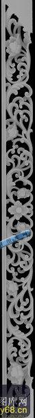 多宝格-紫檀多宝格(花边001)-多宝格灰度图案
