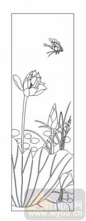 04花草禽鸟-荷花-00051-装饰玻璃