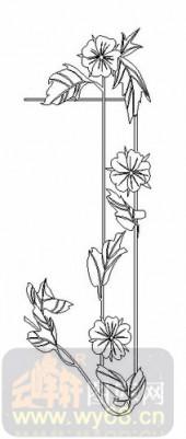 装饰玻璃-07四扇门(3)-花藤-00026