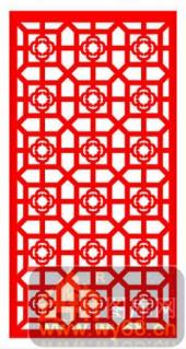 镂空装饰单式001-簇锦团花-镂空装饰单式001-004-镂空矢量图