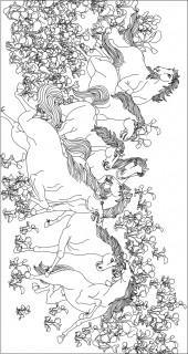 横版53,八骏图
