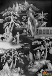 八仙多宝格-八仙多宝格-多宝1-浮雕灰度图