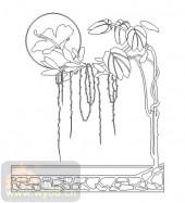 雕刻玻璃-11门窗组合-花藤-00061