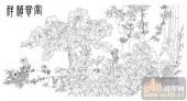 工笔白描牡丹画-矢量图-5富贵祯祥-路径牡丹图片