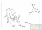 03动物系列-孺子牛-00026-雕刻玻璃图案
