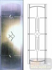 雕刻玻璃-浮雕贴片-花纹-00038