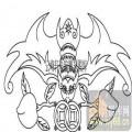 100个中国传统吉祥图-矢量图-寿桃蝙蝠-B-003-电脑雕刻路径图