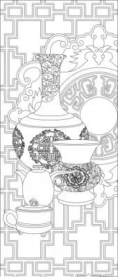 竖板74,花瓶