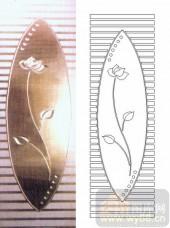 雕刻玻璃-浮雕贴片-荷花-00010