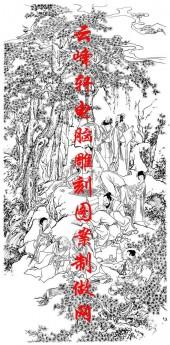长卷-矢量图-香山九老秋兴图-历史典故人物路径图
