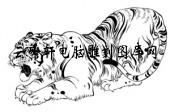 虎1-矢量图-虎背熊腰-31-虎路径图