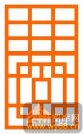 镂空装饰组合式-简单线条-镂空装饰组合式-039-木雕花镂空隔断