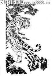 虎第四版-矢量图-龙精虎猛-16-虎雕刻图案