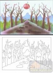 05肌理雕刻系列样图-树林-00115-艺术玻璃