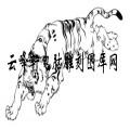 虎1-白描图-风虎云龙-8-老虎雕刻图片