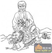 18罗汉3-矢量图-罗汉12-国画罗汉图