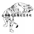 虎1-白描图-虎啸-11-老虎国画白描