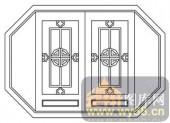镂空装饰组合式-古典窗扇-镂空装饰组合式-009-镂空花纹矢量图