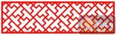 镂空装饰单式002-斜T形花纹-镂空装饰单式002-065-镂空屏风效果图