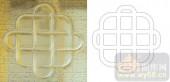 01电脑加工机作品样图-连环结-00015-雕刻玻璃图案