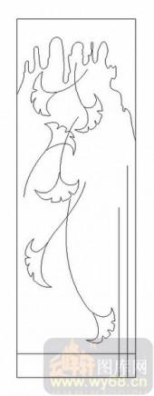 09现代装饰-银杏叶-00055-喷砂玻璃图库