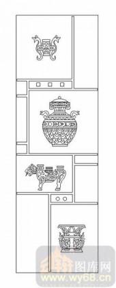 02古文化系列-遣兴陶情-00102-喷砂玻璃图库