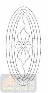 玻璃门-12镶嵌-艺术花纹-00010