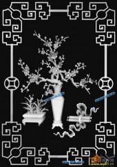其它图-腊梅-002-多宝格浮雕图库