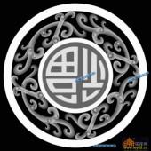 01-福-005-玉雕灰度图案