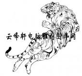 虎1-矢量图-龙精虎猛-3-虎国画矢量