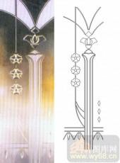 雕刻玻璃图案-浮雕贴片-花纹-00075