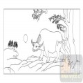 03动物系列-黑牛白角-00046-装饰玻璃