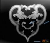 草龙-团龙纹-036-浮雕灰度图