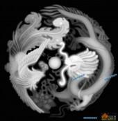 龙凤图-龙凤呈祥-016-龙凤灰度图案