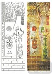 2011设计艺术玻璃刻绘-平安如意-艺术玻璃图库