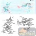 23传统花鸟鱼(2)-二龙戏珠-00003-装饰玻璃