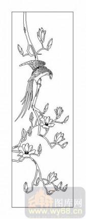 04花草禽鸟-花鸟图-00030-喷砂玻璃图库