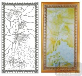 2011设计艺术玻璃刻绘-竹-玻璃门