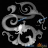03-龙纹-063-龙凤浮雕图库