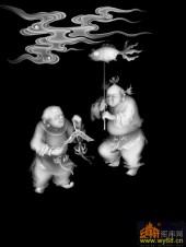 童子 鱼-精雕灰度图