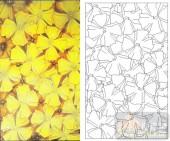 05肌理雕刻系列样图-黄色小花-00105-喷砂玻璃图库