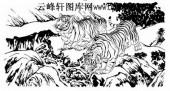 虎第五版-矢量图-双虎-5-虎雕刻图片