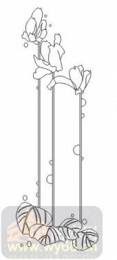 玻璃雕刻-08四扇门(4)-艺术花-00068