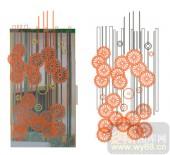2011设计艺术玻璃刻绘-圆形花朵-XC-506-玻璃雕刻