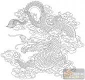 龙-矢量图-龙跳虎卧-long145-国画龙图案