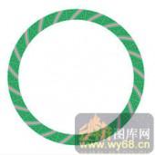 122种圆形边框矢量-经典花纹-120种圆形边框矢量-055-镂空雕刻